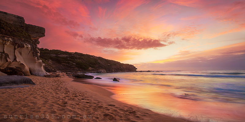 beach sunrise landscape. beach sunrise landscape e